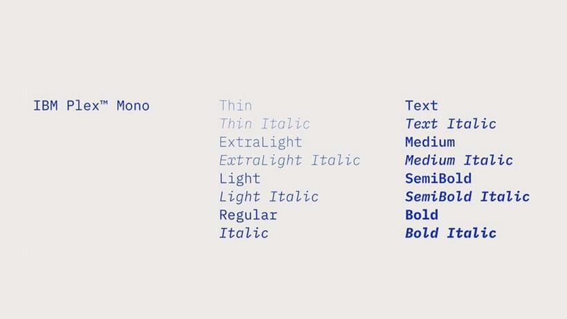 IBM diseña su tipografía corporativa open source 10