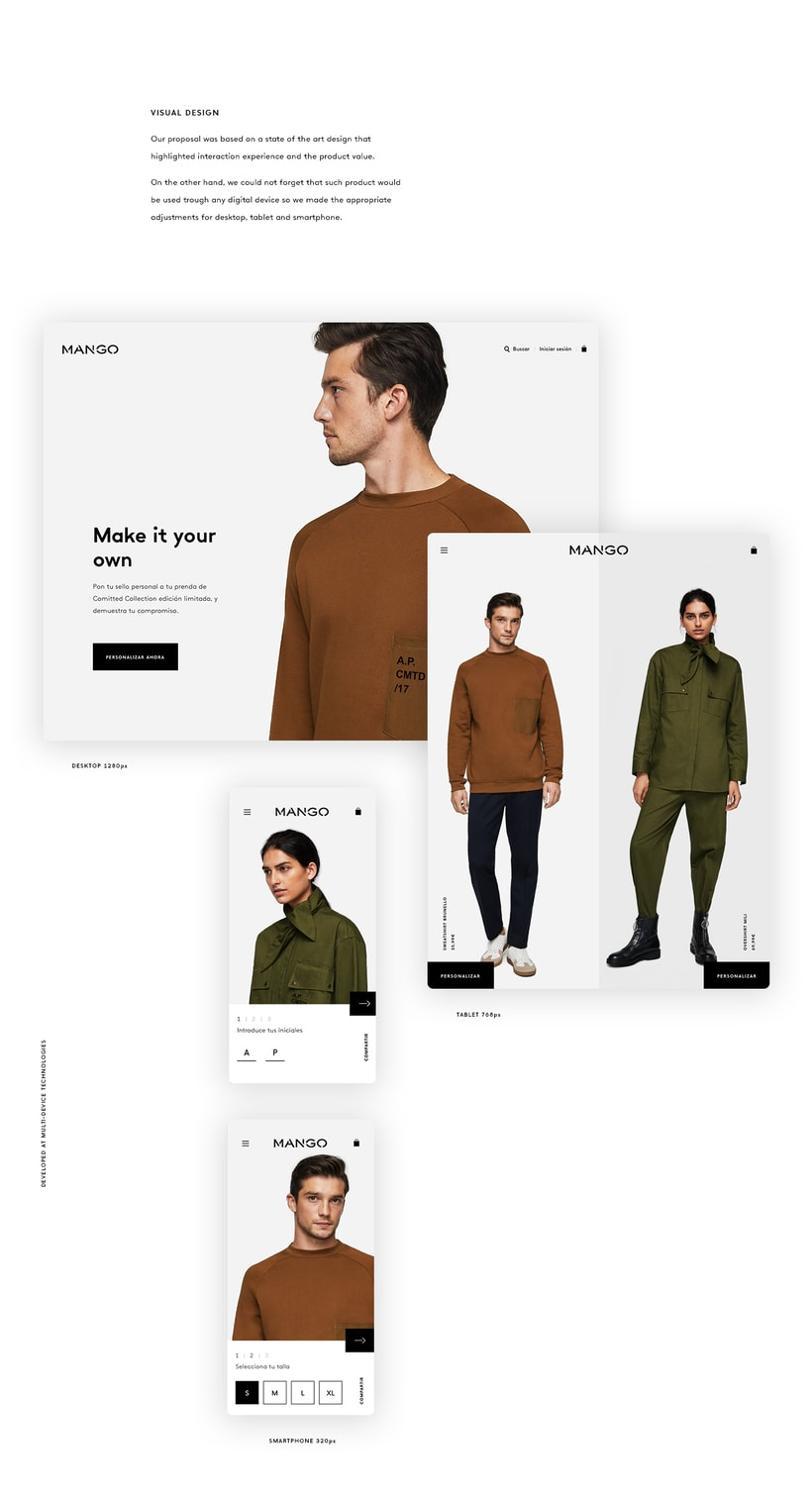 Mango Committed. Interactive shopping experience 3