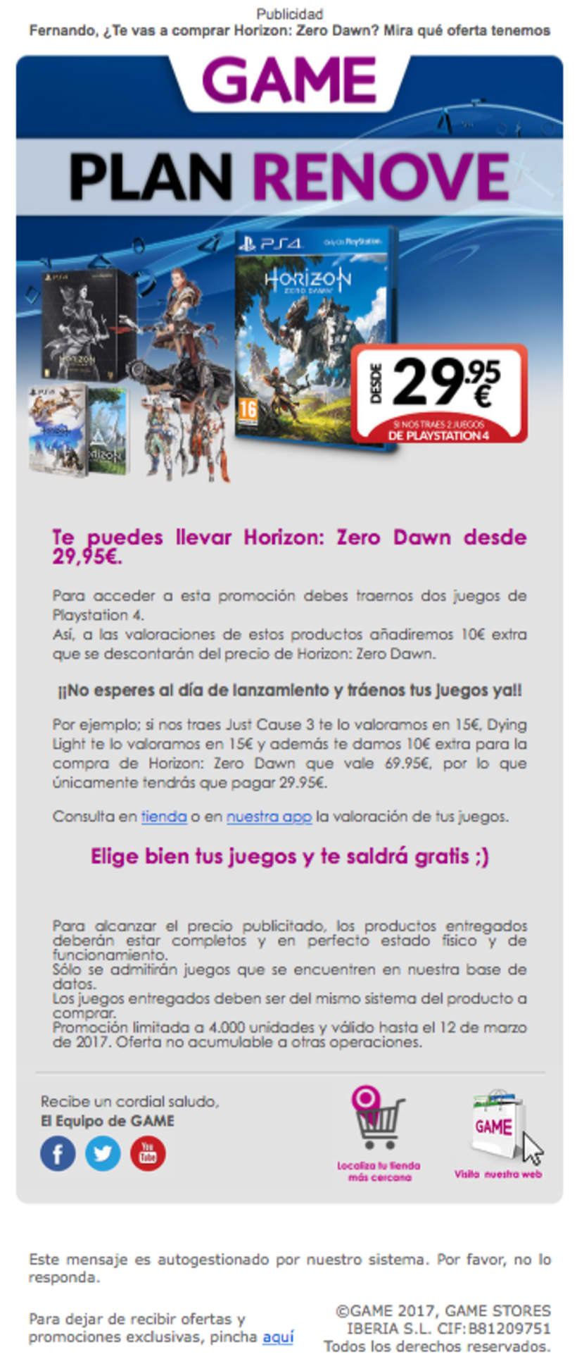 Banners y Newsletters GAME 2