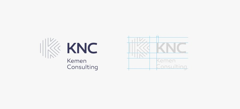 Logo and brand image - KNC. 2