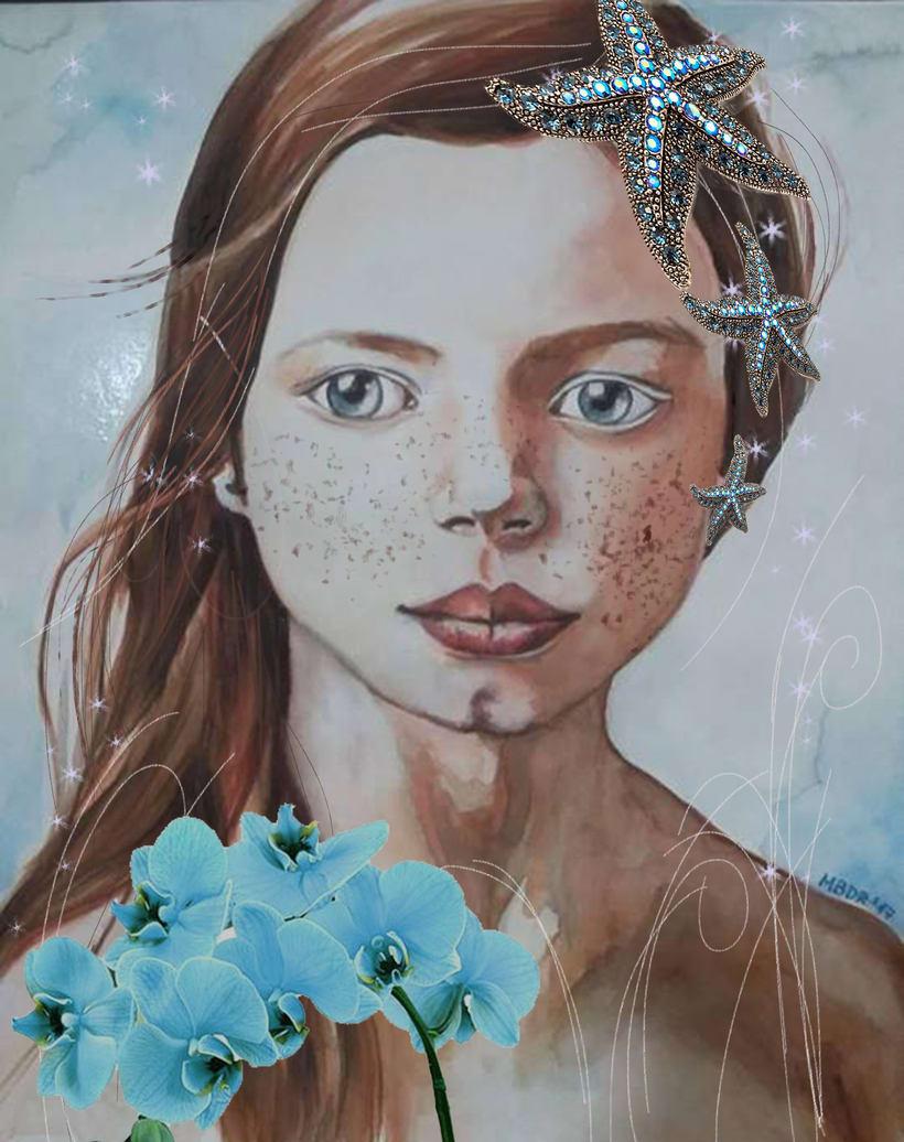 Nuevo proyecto: Retrato en acuarela con retoque digital. Gracias Ana Santos 0