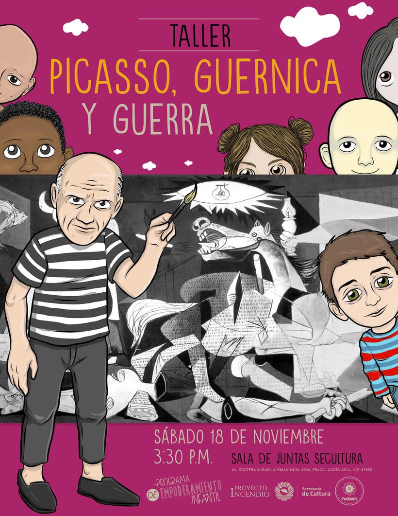 Guernica, Picasso y Edmundo Font / Programa de Empoderamiento Infantil / Programa #PazAporte Guerrero 1