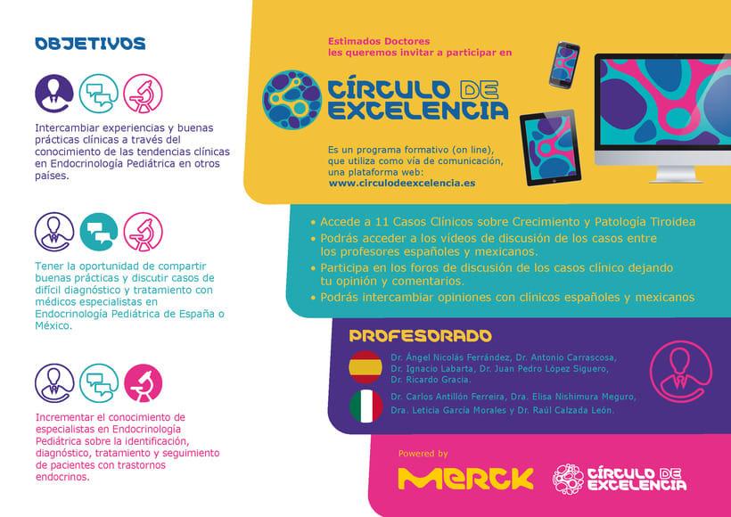 """Tarjetón Merck """"Circulo de excelencia"""" 0"""
