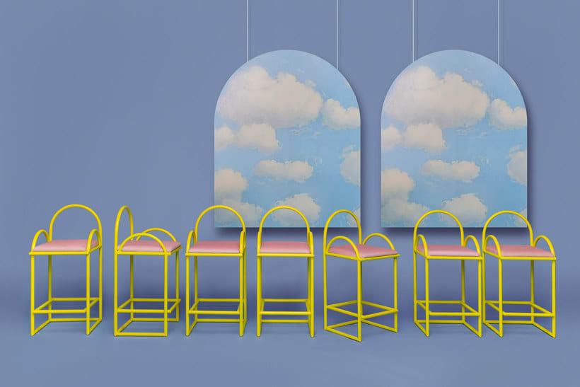 Arco: mobiliario estilo años 70 de Masquespacio 3