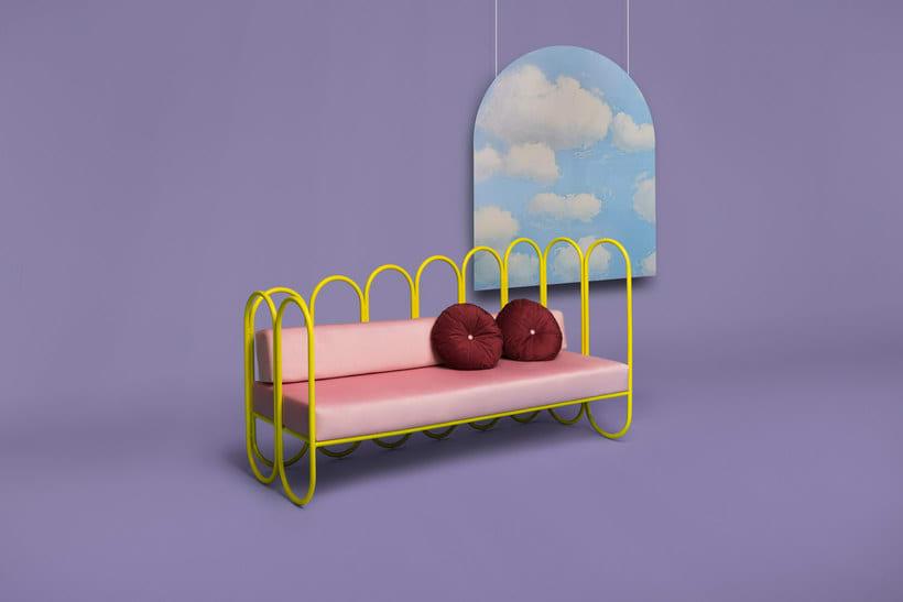 Arco: mobiliario estilo años 70 de Masquespacio 5