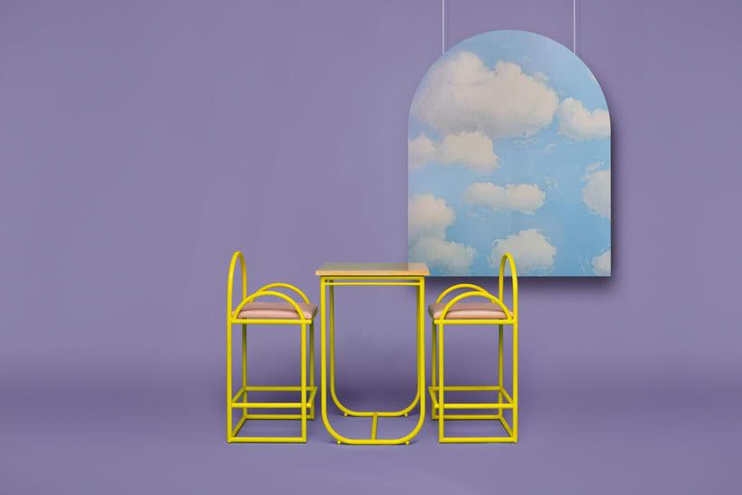 Arco: mobiliario estilo años 70 de Masquespacio 6