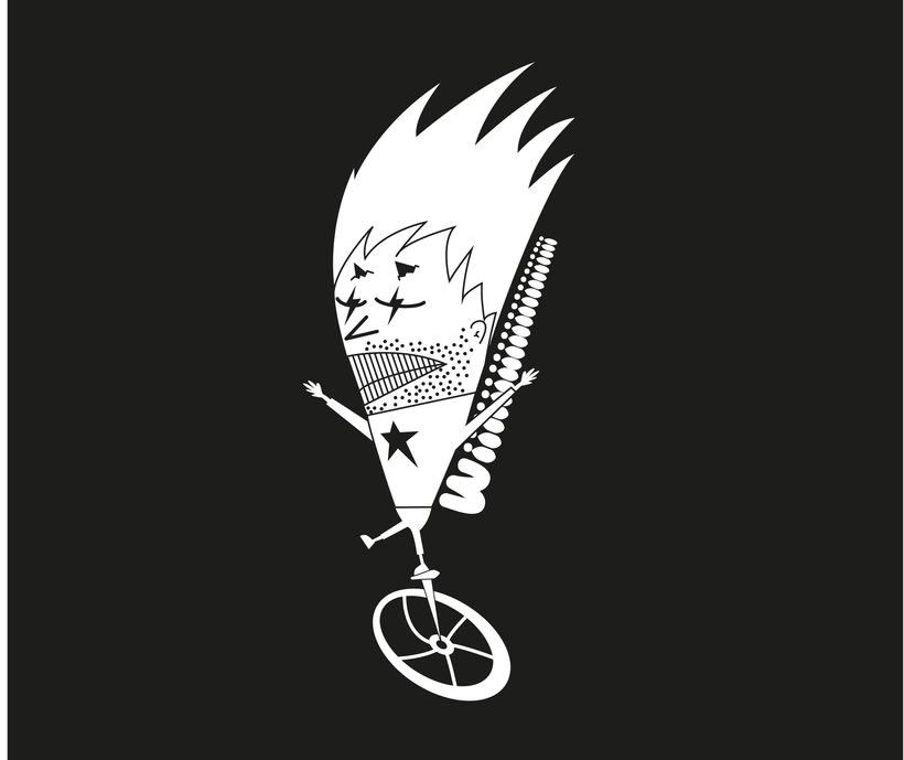 Ilustración ciclista 1