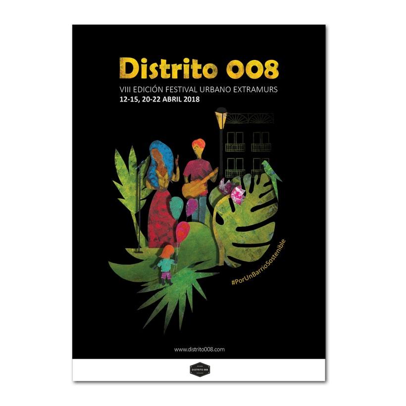 Cartel para Festival Extramurs de Distrito 008, VIII edición / 2018 3