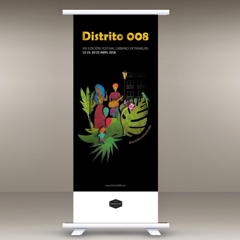 Cartel para Festival Extramurs de Distrito 008, VIII edición / 2018 4