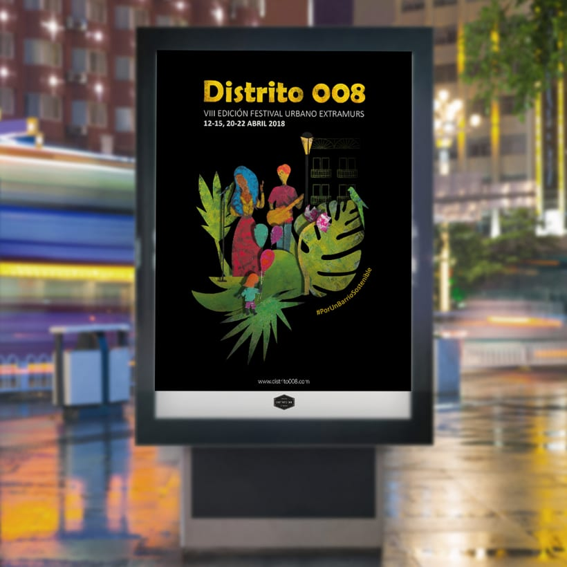 Cartel para Festival Extramurs de Distrito 008, VIII edición / 2018 9