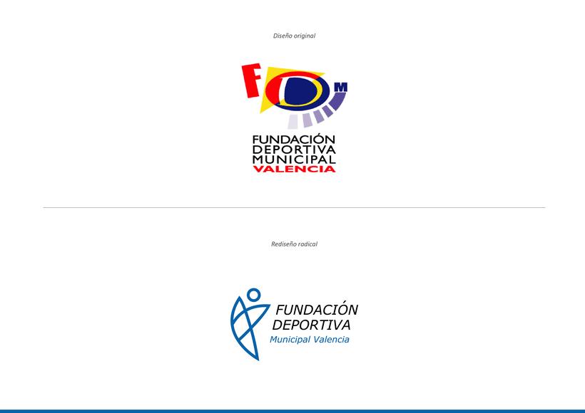 Rediseño de la marca de Fundación Deportiva Municipal Valencia 0