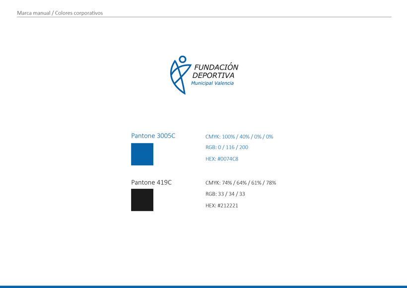 Rediseño de la marca de Fundación Deportiva Municipal Valencia 1