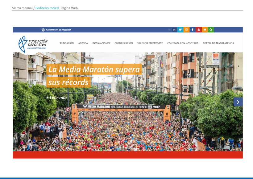Rediseño de la marca de Fundación Deportiva Municipal Valencia 5