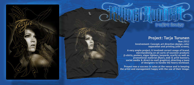Tarja 2012 t-shirt y poster 0