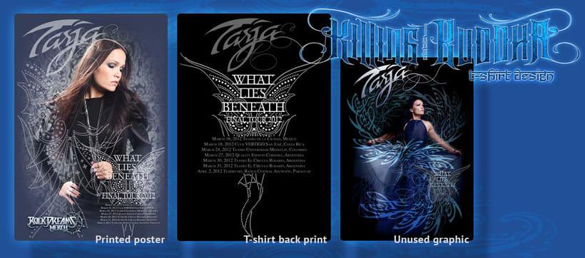 Tarja 2012 t-shirt y poster 1