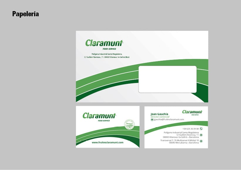 Restyling branding  Claramunt Food Services 24