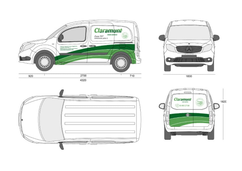 Restyling branding  Claramunt Food Services 29