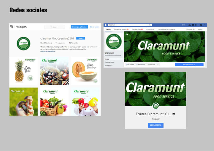 Restyling branding  Claramunt Food Services 31