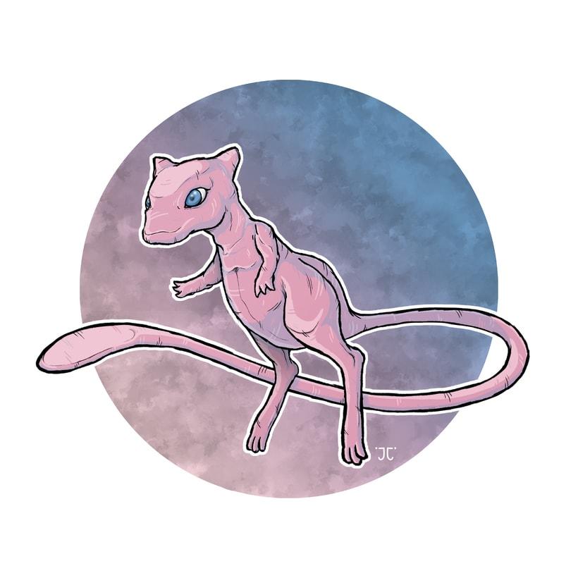 Ilustración Digital - Mew 0