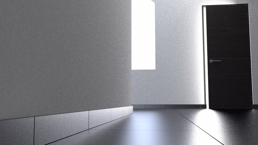Test 3D luces en sala interior con Blender 2