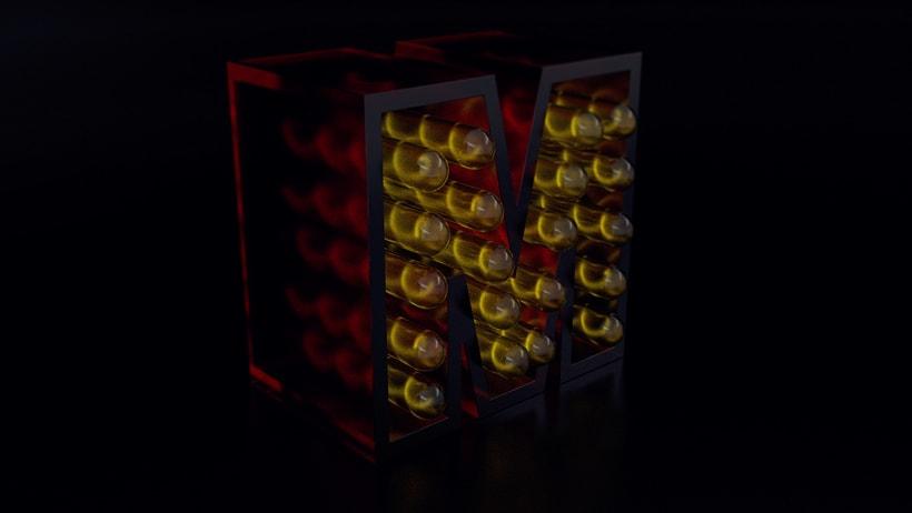 Mi Proyecto del curso: Lettering 3D: modelado y texturizado con Cinema 4D 0