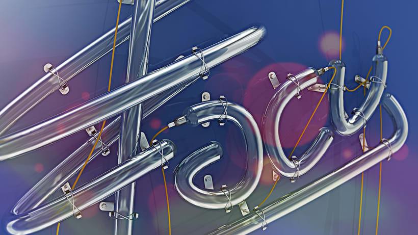Mi Proyecto del curso: Lettering 3D: modelado y texturizado con Cinema 4D 6