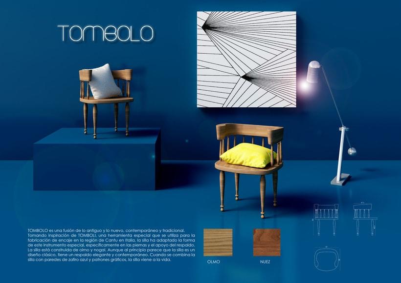 TOMBOLO - silla de madera maciza 0