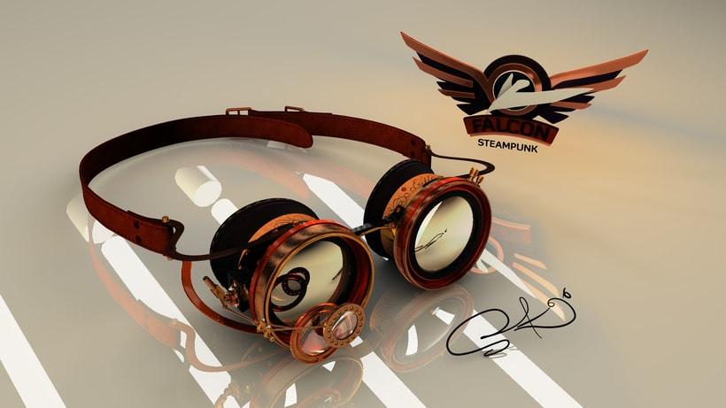 Falcon SteamPunk Goggles 0