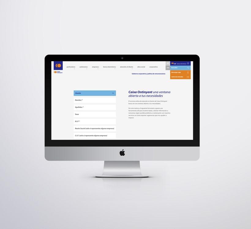 Caixa Ontinyent – diseño web 5