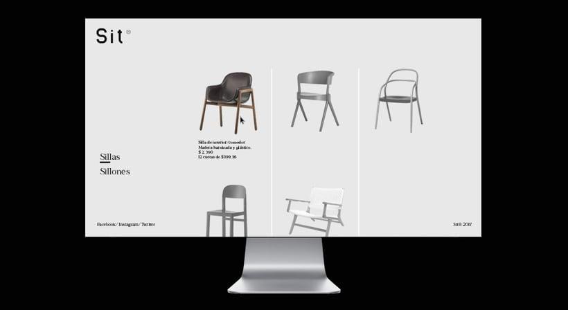 Sit es un negocio de sillas y sillones individuales. 8