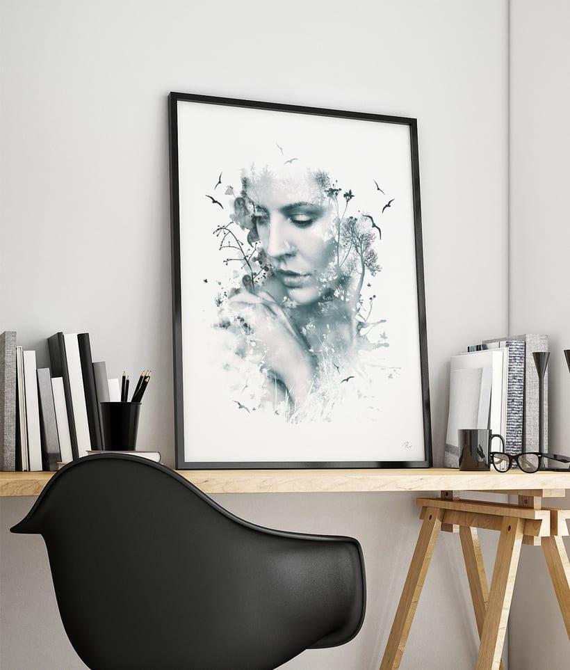 Dise o de cuadro decorativo domestika - Disenos de cuadros ...