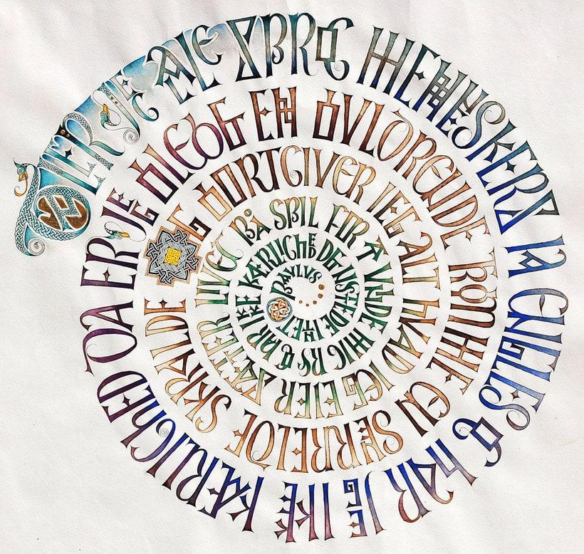 Caligrafiando con góticas potentes con Oriol Miró 1
