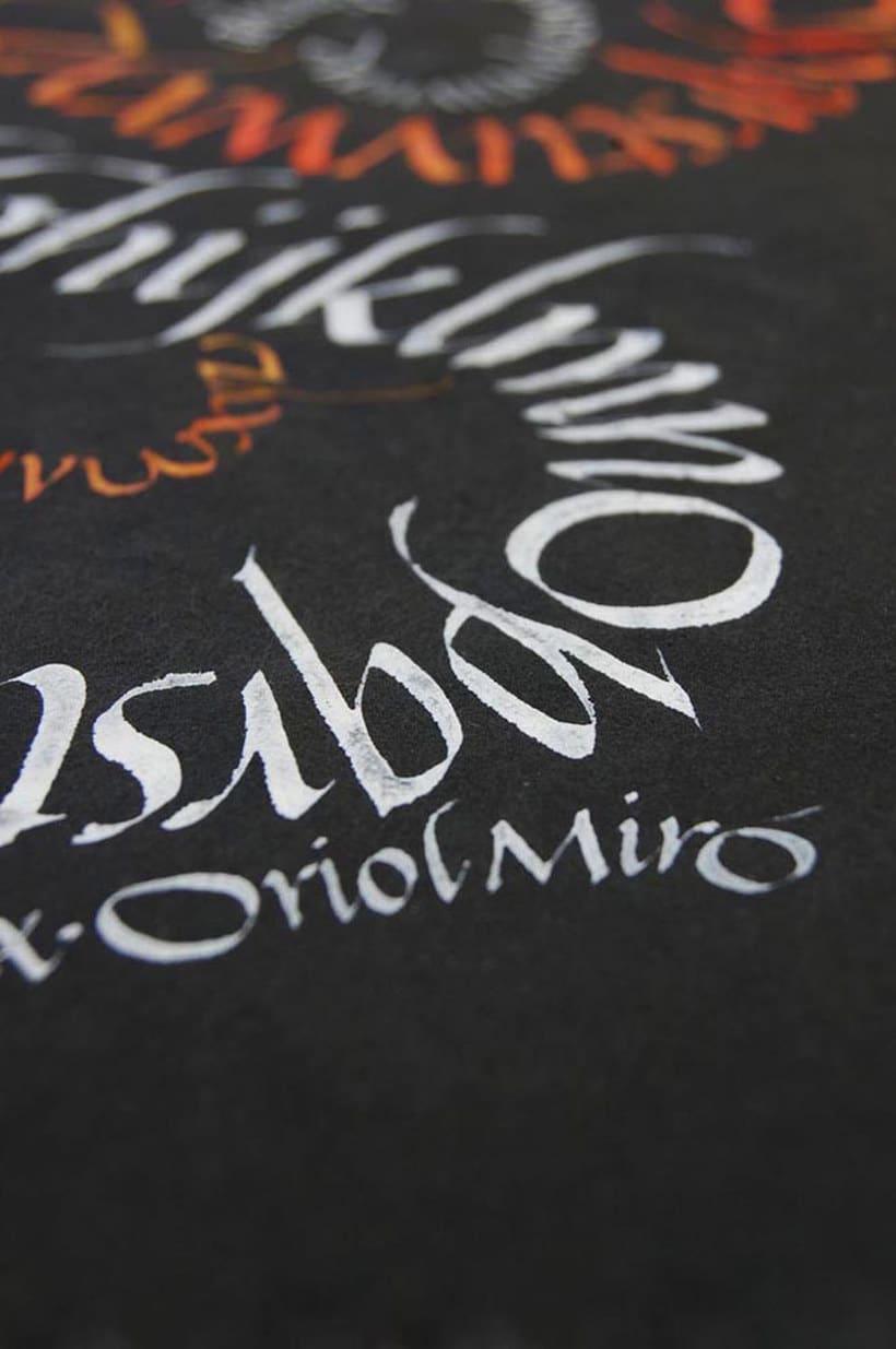 Caligrafiando con góticas potentes con Oriol Miró 3