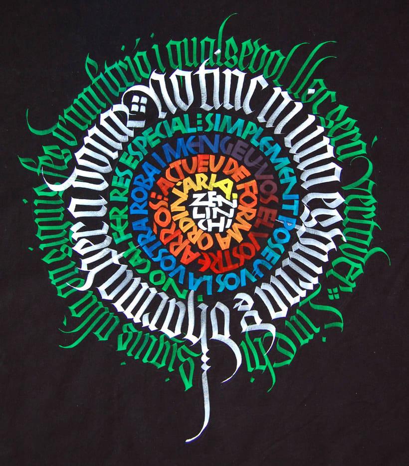 Caligrafiando con góticas potentes con Oriol Miró 8