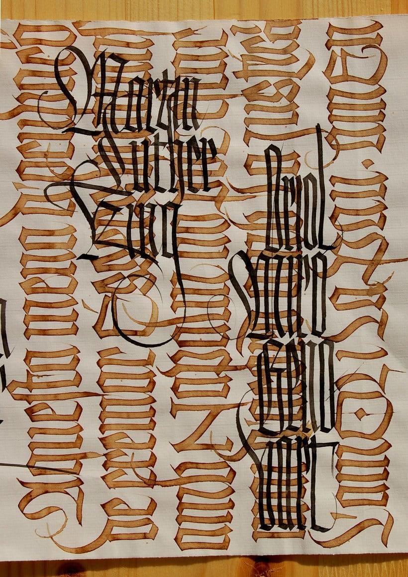 Caligrafiando con góticas potentes con Oriol Miró 14