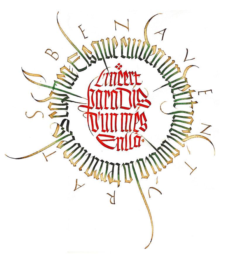 Caligrafiando con góticas potentes con Oriol Miró 16