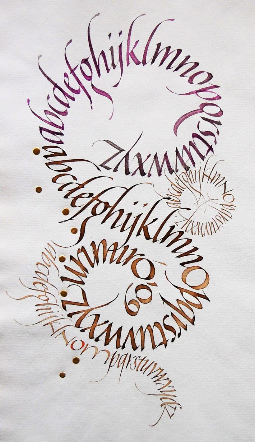 Caligrafiando con góticas potentes con Oriol Miró 18