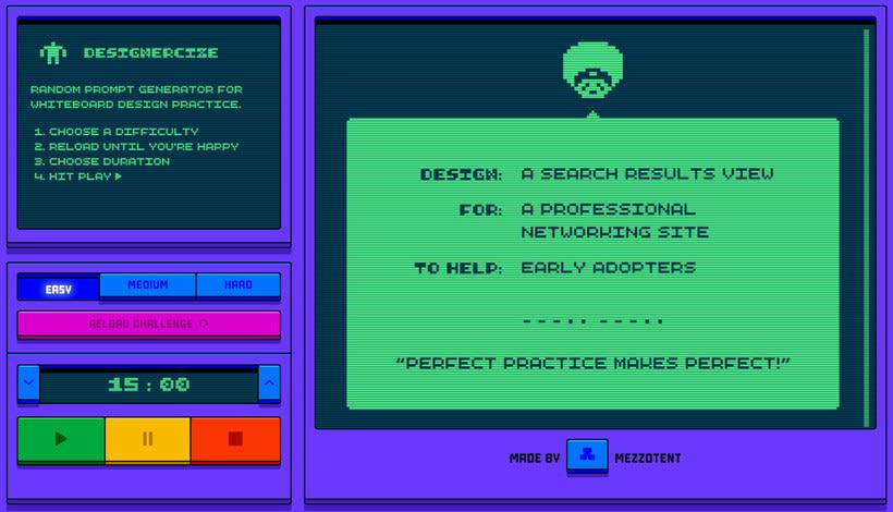 Designercize: un generador de briefs en 8-bits 1