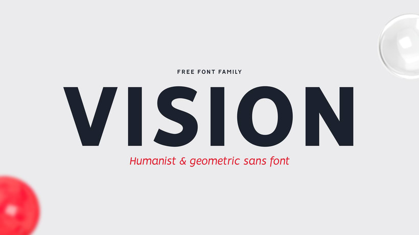 VISION - FREE FONT FAMILY  12