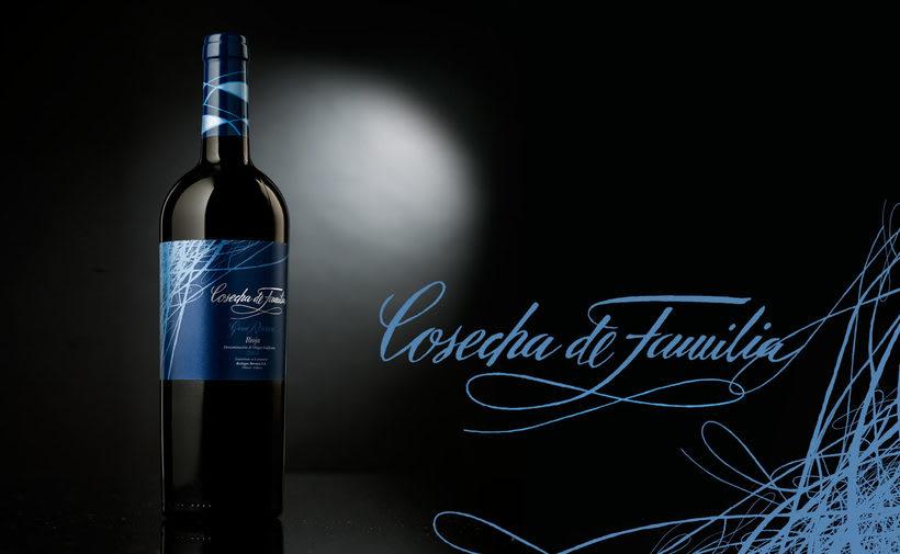 Etiqueta de vino Cosecha de Familia 1