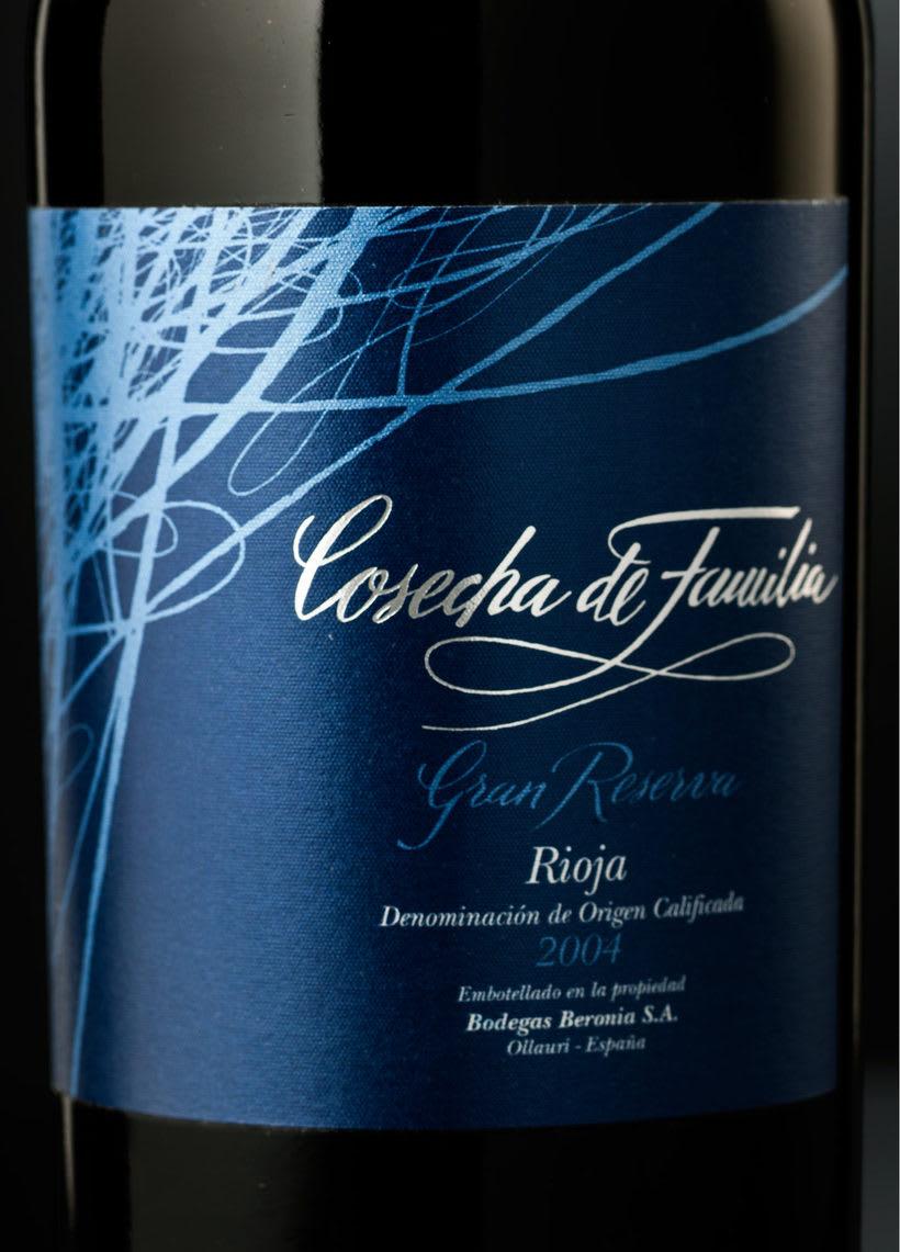 Etiqueta de vino Cosecha de Familia 5