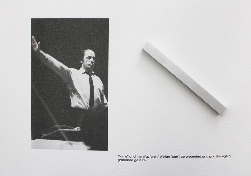 Boulez conducted in Bayreuth 1976, 2016. Se localiza en un anticuario de la ciudad de Bayreuth, un libro sobre la producción Del Anillo de Boulez y Chereau en el Festspielhaus de Bayreuth en 1976. 2