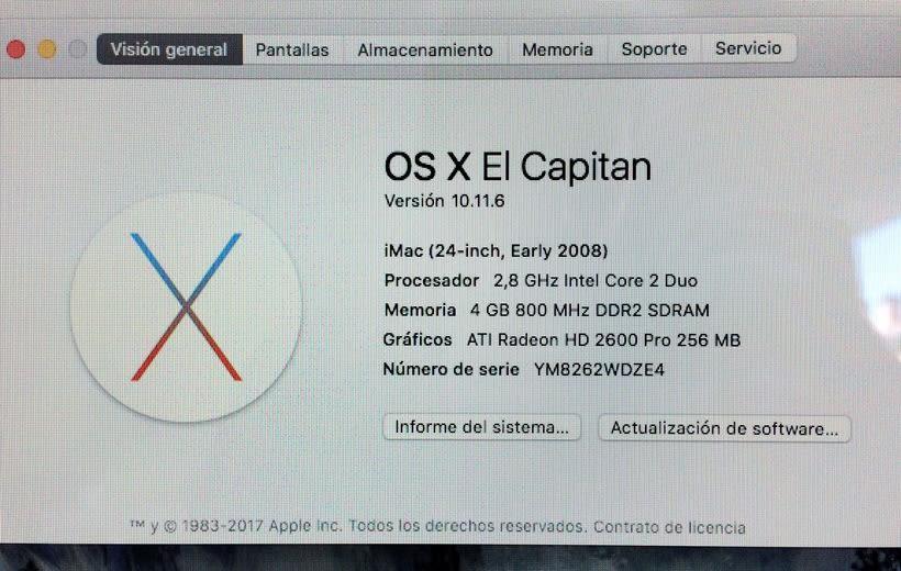 """VENDIDO!! iMac 24"""" con SSD 2"""