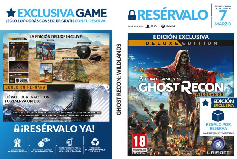 Carátulas de Reserva PLV GAME 4