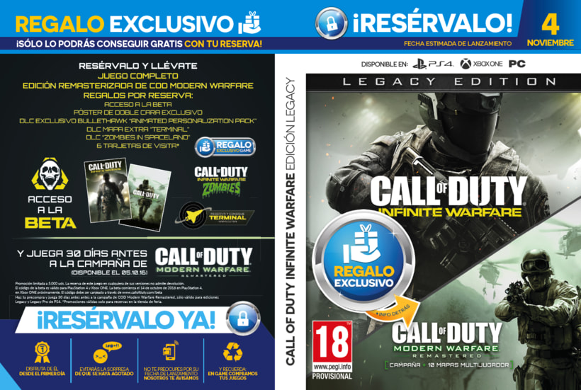 Carátulas de Reserva PLV GAME 7