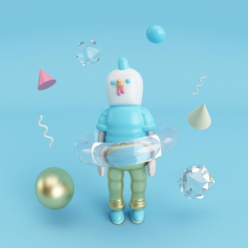 Mi project in Diseño de personajes en Cinema 4D: del boceto a la impresión 3D course -1