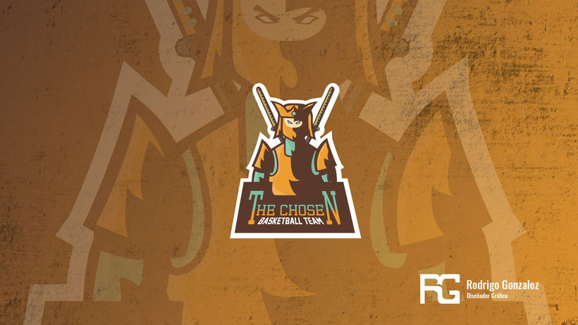 The Chosen - Basketball Team - Mascot Logo. 0