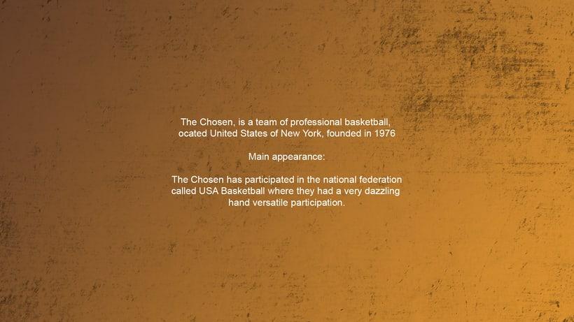 The Chosen - Basketball Team - Mascot Logo. 1