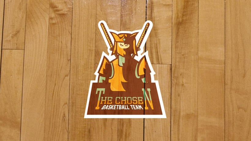 The Chosen - Basketball Team - Mascot Logo. 3