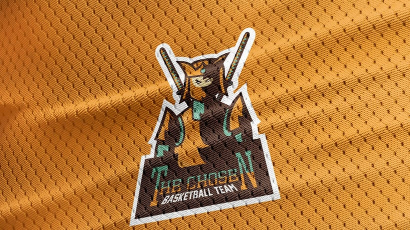 The Chosen - Basketball Team - Mascot Logo. 4